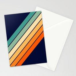 Farida - 70s Vintage Style Retro Stripes Stationery Cards