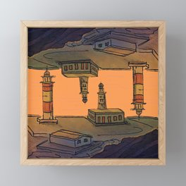 In Love with the Sea / Lighthouses Fuencaliente Framed Mini Art Print