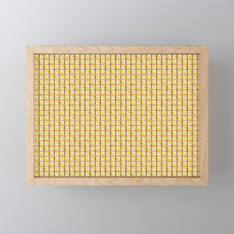 Autumn Zigzag Weave Framed Mini Art Print