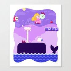 Tiny Worlds - Super Mario Bros. 2: Peach Canvas Print