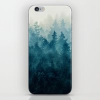 blue iPhone & iPod Skins featuring The Heart Of My Heart // So Far From Home Edit by Tordis Kayma