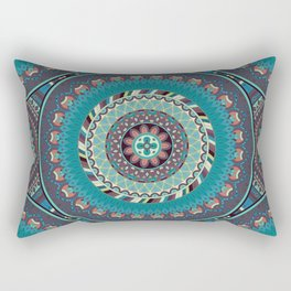 Boho mandala abstract pattern design Rectangular Pillow