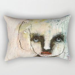 Monochrome portrait Rectangular Pillow