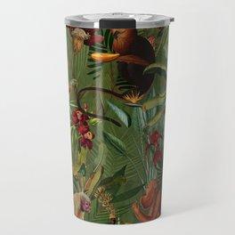 Vintage & Shabby Chic - Green Monkey Banana Jungle Travel Mug