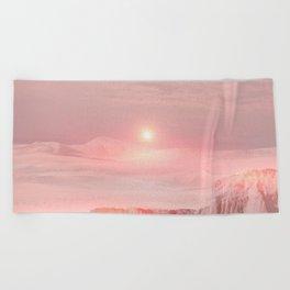 Pastel desert Beach Towel