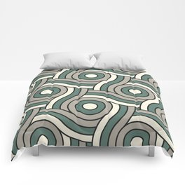 Circle Swirl Pattern Ever Classic Gray 32-24 Thistle Green 22-18 and Dover White 33-6 Comforters