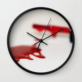 Spilled Nail Polish fine art photography Wall Clock