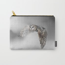 flying owl (tyto alba) Carry-All Pouch