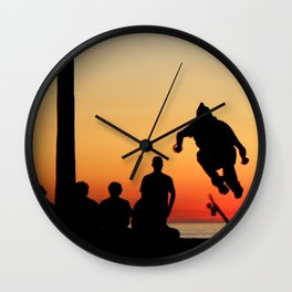 Sunset Skater Wall Clock