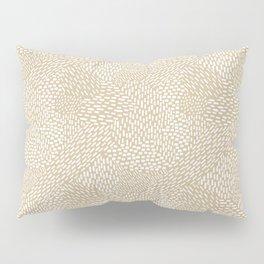 Brushstrokes Abstract Texture, Tan Pillow Sham