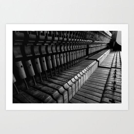 Silent Piano Keys Art Print