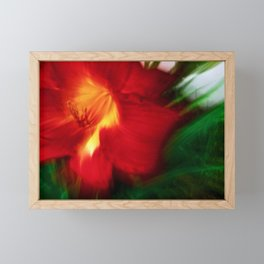 Abstract Red Hibiscus Fire Framed Mini Art Print