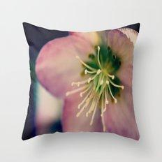 Helleborus  - JUSTART © Throw Pillow