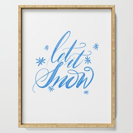 Let it snow Hand lettering Serving Tray