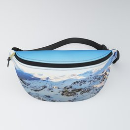 Shades of blue at the mountains Fanny Pack