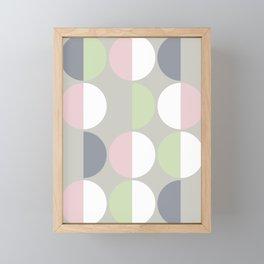 Mid Century Modern Moon & Sun pattern 1 Framed Mini Art Print