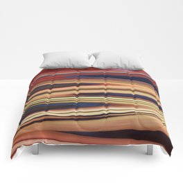 Abstract: Blue Red Beige Zigzag Comforters