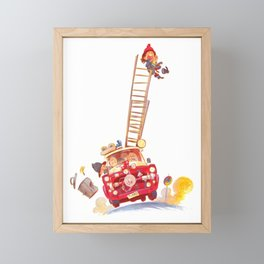 Third grade fire brigade Framed Mini Art Print