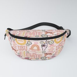 Good Vibes Collage Fanny Pack