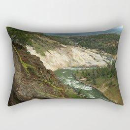 Yellowstone River View Rectangular Pillow
