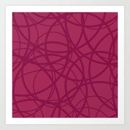 Raspberry Circus Art Print