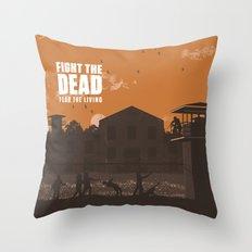 The Walking Dead Prison Walkers Throw Pillow