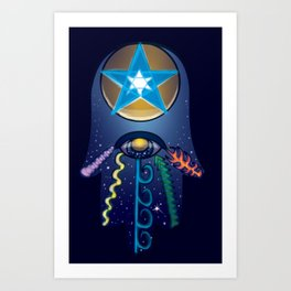 The Elemental Hamsa Art Print