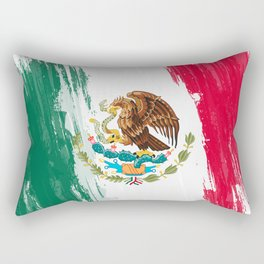 Mexico's Flag Design Rectangular Pillow