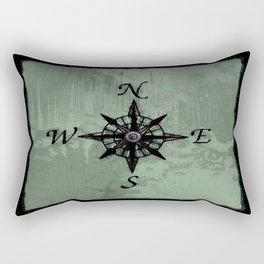 Historic Old Compass Rose Rectangular Pillow