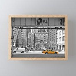 NYC - Yellow Cabs - Fish Market Framed Mini Art Print