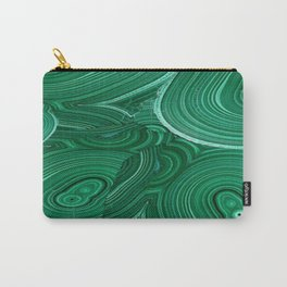 Green Malachite Nature Pattern Design Abstract Carry-All Pouch