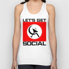 Let's Get Social Unisex Tank Top