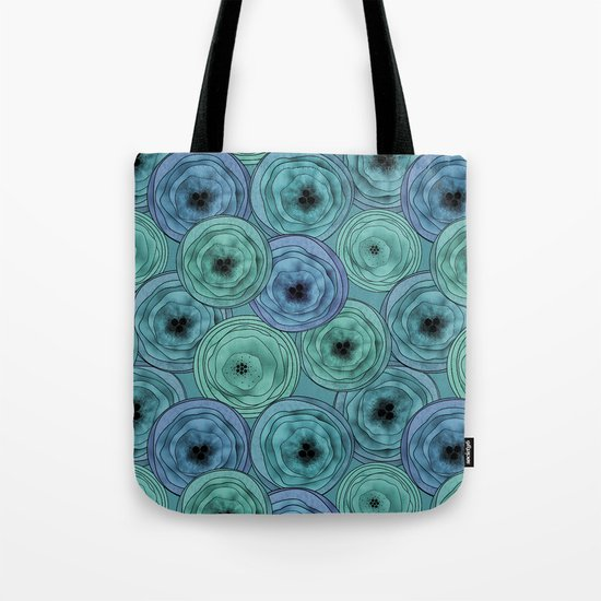 Abstract floral pattern Anemone. Tote Bag