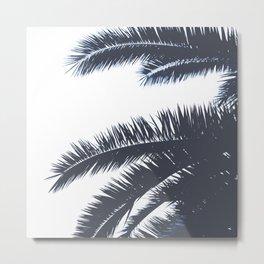 Palm Tree leaves abstract III Metal Print