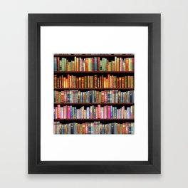 Vintage books ft Jane Austen & more Framed Art Print