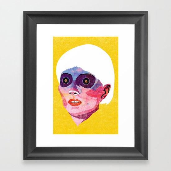 head_121213 Framed Art Print