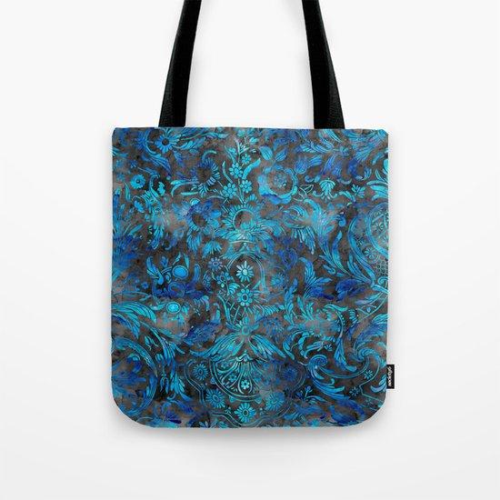 Watercolor Damask Pattern 07 Tote Bag
