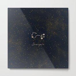 Scorpio - Rose Gold Metal Print