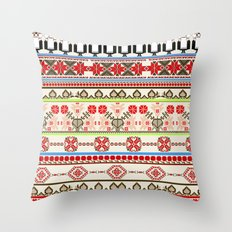 Traditional pattern Throw Pillow