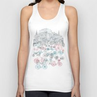 bikes Tank Tops featuring Old Town Bikes by David Fleck