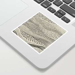 Hand Drawn Patterned Abstract II Sticker