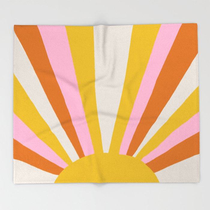 sunshine state of mind Throw Blanket