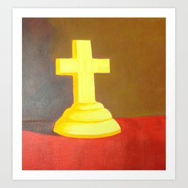 Cross Covered in His Light Art Print