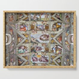 "Michelangelo ""Sistine Chapel ceiling"", Serving Tray"