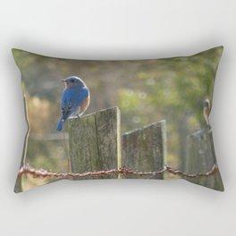 Splash of Blue Rectangular Pillow