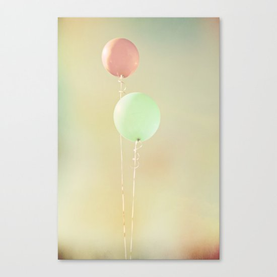 Balloons in Tie-Dyed Sky Canvas Print