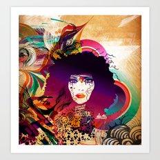 Afro Girl Art Print