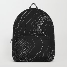 Black & White Topography map Backpack