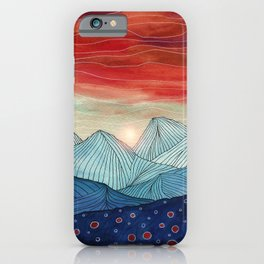 Lines in the mountains IV iPhone Case