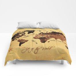 world map 75 Comforters